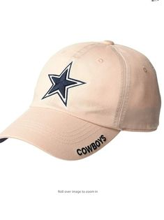 Show your support for America's Team with the Dallas Cowboys Basic Slouch Cap. This cap has a Dallas Cowboys star logo on the front and 'COWBOYS' down the side of the bill.100% Cotton Imported About: Officially licensed NFL (National Football League) product by Dallas Cowboys. Dallas Cowboys Merchandise brings you the best in men's, women's and youth Dallas Cowboys fan gear apparel. Unstructured heavy garment washed cotton 6-panel lide buckle closure with woven loop label and front flat 3/D emB Dallas Cowboys Star, Cowboys Men, All Nfl Teams, Star Logo, National Football League, Fan Gear, 3 D, Youth, Baseball Hats