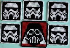 Perler bead Star Wars coaster set by HamaFriends
