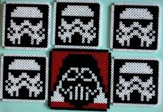 Perler bead Star Wars coaster set by HamaFriends
