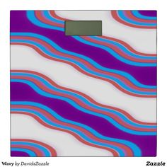 Wavy Bathroom Scales  Available on many more designs! Type in the name of this design in the search bar on my Zazzle Products page!  #wavy #wave #home #decor #bed #bath #decorate #bathroom #bedroom #buy #sale #zazzle #forsale #line #purple #red #blue #abstract #abstraction #stripes #ripple #cool #chic #contemporary #modern #style #life #style #college #dorm #apartment #scale #weight #weigh #health #digital