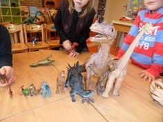 jufjanneke.nl - Tijd van dinosaurussen SORTEREN OP GROOTTE EN VAN KLEIN NAAR GROOT
