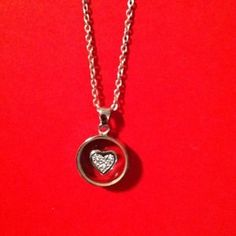"""I just discovered this while shopping on Poshmark: ❤❤REDUCED❤❤Ladies """"Sterling Silver"""" Heart Necklace. Check it out!  Size: 18"""""""