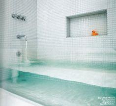 See-through bathtub? Awesome.