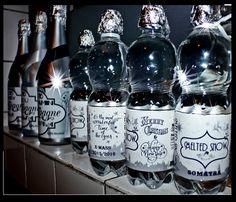 gepersonaliseerde water label voor flesjes water kerst