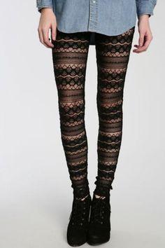 Elegant tights with a bit of an alternative flava