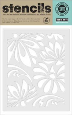 Hero Arts Large Lotus Pattern Stencil SA001 by a2zscrapbooking on Etsy