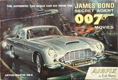 James Bond Cars - Aston Martin and 007 - Cars featured in the James Bond films. Aston Martin Db5, James Bond Cars, James Bond Movies, Model Cars Kits, Kit Cars, Car Kits, Plastic Model Cars, E Type, Old Models
