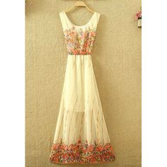 Printed Vintage Maxi Dress