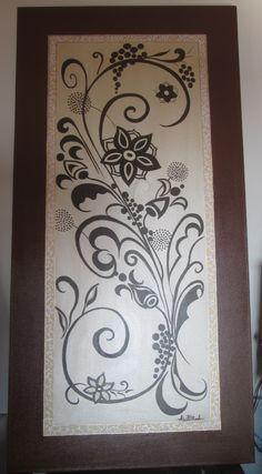 tela pintada  , decoraçao