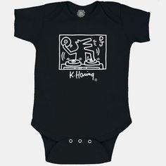 Keith Haring DJ Dog Onesie – Piccolini NYC