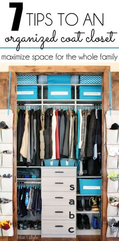 {organizing with style} Coat Closet Part 3: Seven Tips to Maximize Storage for the Whole Family