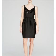 Kate Spade dress- NWT- size 4 Kate Spade embellished cupcake dress- NWT- size 4. Embellished v-neck, sleeveless, gathered waist, two concealed side slit pockets. Concealed back zip. Lined. This dress is STUNNING! Sophisticated, chic, romantic. Gorgeous, flattering silhouette. Perfect dress for that special occasion! Retails for $598! 🎉HP: Best of dresses and skirts 5/27🎉 kate spade Dresses