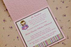Invitaciones para Bautizos - Bautizo de María Claudia - Tienda My Design Panamá