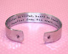 Sister Gift  Sister to Sister Heart to Heart... by KorenaLoves, $25.00