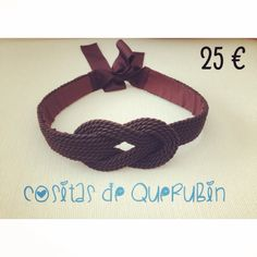 Cinturon nudo marinero marrón 25 €. Envios a toda España 1,50 €