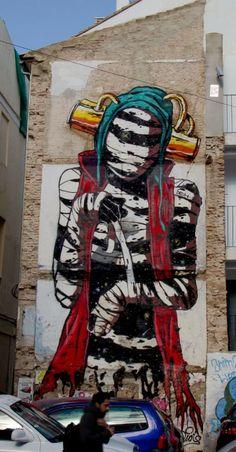 Deih New Street Art For Incubarte '13 - Valencia, Spain