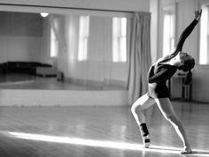Ballet dancer in the studio.