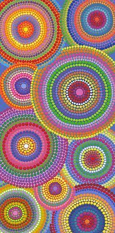 Q-Tips.... Pointillism, 5th grade.. Dots upon dots, circles upon circles, maybe do color families