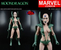 "My custom 6"" Marvel Legends Moondragon action figure."