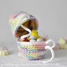 Crochet Easter Egg  Pattern. What a blast from the past! My mom used to make these for us each year! ♥ them