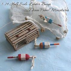 dollhouse miniature boat cabins | ... BUOYS 1 - Set of 3 - Nautical Boat Cabin - Dollhouse Miniature $14.95