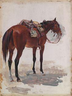 George Washington Thomas Lambert was an Australian artist, known principally for portrait paintings and as a war artist . Horse Drawings, Inspirational Artwork, Equine Art, Australian Artists, Western Art, Horse Art, Beautiful Paintings, Pet Birds, Painting & Drawing