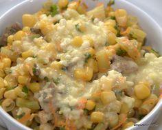 Ha egyszerű finomságra vágysz, ezt a salátát nagyon fogod kedvelni! Hozzávalók: 30 dkg kukorica 10 dkg zöldborsó 20 dkg zöldbab 3 evőkanál majonéz 4 evőkanál[...] Vegetarian Recipes, Cooking Recipes, Healthy Recipes, Cold Dishes, Hungarian Recipes, No Cook Meals, Salad Recipes, Food To Make, Food And Drink
