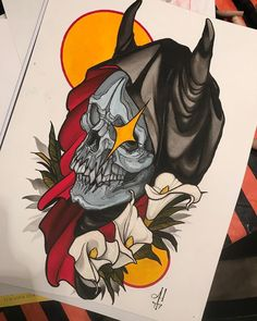 Discover recipes, home ideas, style inspiration and other ideas to try. Traditional Tattoo Inspiration, Neo Traditional Tattoo, American Traditional, Japanese Back Tattoo, Tattoo Design Drawings, Tattoo Designs, Grim Reaper Tattoo, Tatuagem Old School, Tattoo Flash Art