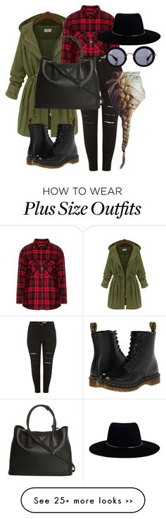 """Plus Size"" by the-dream-in-elisa on Polyvore featuring Frapp, Prada, Dr. Martens, Zimmermann and Miu Miu"