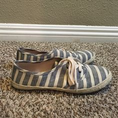 Call It Spring Striped Sneakers! Super cute striped sneakers. I only wore them twice, with very minimal wear and tear. Basically like new! Call It Spring Shoes Sneakers