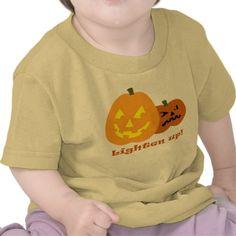 Lighten Up! Funny Halloween Pumpkins Baby Tee. By  RedNebulaStudios.