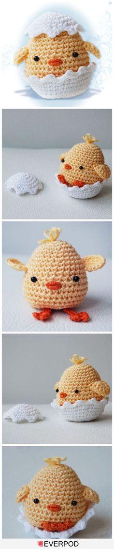 Amigurumi chick #CrochetEaster