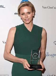 HSH Princess Charlene of Monaco receives the Champion of Children award in Hollywood 4/29/14