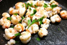 """Welcome Annia AKA """"Tiny Taster"""" to Skiff Life, introducing Annia's Rock Shrimp. Roasted Mushrooms, Tasty, Yummy Food, Cooking Wine, Meatless Monday, Shrimp Recipes, I Love Food, Stuffed Peppers"""