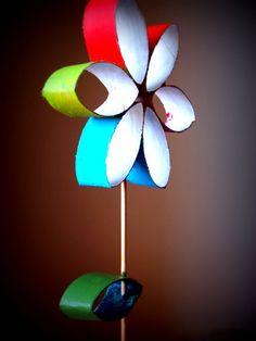 Flores con rollos de papel, Genial!