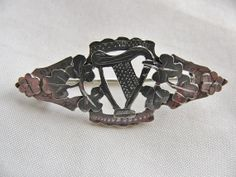 Find more cool Irish Gifts via http://www.AmericasMall.com/shopirish-creative-authentic-irish-gifts #irishgifts #gifts #shopirish Victorian Silver Irish Harp and Shamrock by victoriansentiments, $65.00