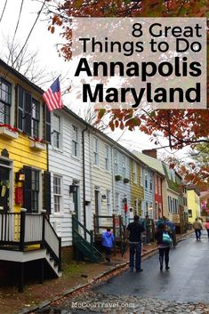 8 Great Things to Do in Annapolis Maryland • McCool Travel Maryland Day Trips, Visit Maryland, Annapolis Maryland, Baltimore Maryland, Dc Travel, Solo Travel, Places To Travel, Travel Europe, Travel Tips