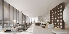 ONE-CU壹方设计 Reception Desk Design, Lobby Lounge, Sales Office, Rubik's Cube, Lobby Design, Interior Design Living Room, Furniture, Home Decor, Salons