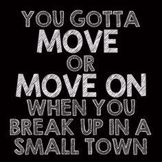 Sam Hunt Break Up in a Small Town Lyric Art