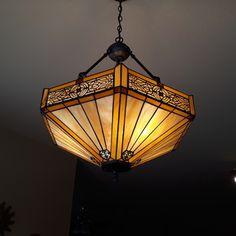 Tiffany Pendant Light, Glass Pendant Light, Stained Glass Light, Tiffany Stained Glass, Dining Chandelier, Pendant Chandelier, Cabin Lighting, Cool Lighting, Tiffany Ceiling Lights