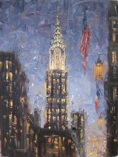 Painting of New York by Eugene J. Paprocki