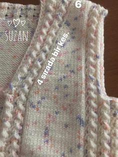 Diy Crafts - Diy Crafts - admin Ocak 2020 Babykleidung Leave a Views Diy Crafts Knitting, Diy Crafts Crochet, Easy Knitting, Baby Knitting Patterns, Knitting Stitches, Knitting Designs, Crochet Baby Jacket, Knit Crochet, Baby Dress Design
