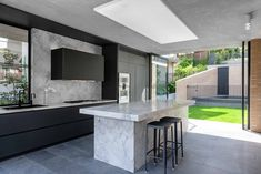 Plunkett Rd, Mosman | Premier Kitchens Old Kitchen, Kitchen Items, Stone Benchtop Kitchen, Victorian Kitchen, Panel Doors, Strip Lighting, Open Plan, Cool Kitchens, Kitchen Design