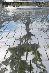 """Restructure-Busan, 2008  stainless steel mirror installation """"Busan Biennale""""  location; APEC Naru Park, Busan Korea Busan Korea, Sim, Sidewalk, Stainless Steel, Sculpture, Park, Mirror, Side Walkway, Mirrors"""