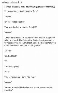 Siri y baby Harry<<<<This would totally happen.....Remus would just be like `In yo` Face!`