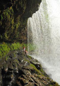 Wales Travel Inspiration - Under the Waterfalls - Ystradfellte, Wales.