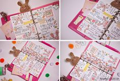 Bunny Filofax page decoration. We're now all pimped up! - Filofax Friday