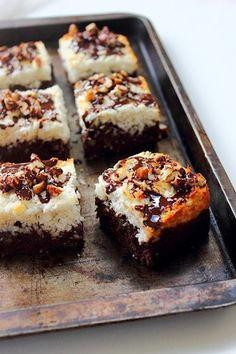 chocolate coconut brownies.