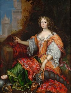 Presumed to be Madame de Montespan as Fortuna, 17th C, French school