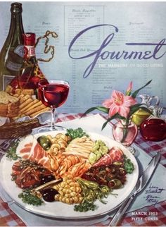 Gourmet March 1953//